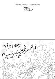 happy thanksgiving colouring card