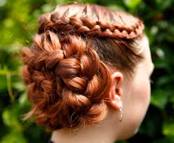 flower hair bun how to do a flower braid 7 steps with pictures
