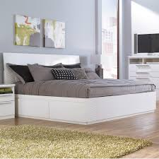 Platform Bed White White Queen Platform Bed With Storage Also Millennium Jansey Metro