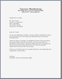 formal letter format example of formal business letter