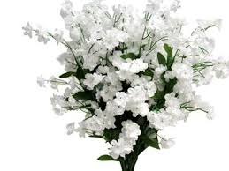 babys breath white baby s breath silk flower bush artificial faux silk