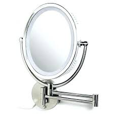wall mounted makeup mirror with lighted battery battery operated wall mounted lighted makeup mirror fooru me