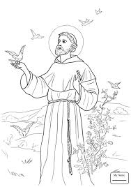 Peace Prayer Of St Francis Christianity Bible Saints Coloring Saints Colouring Pages