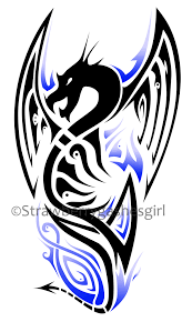 dragon tattoo design blue by strawberrygashesgirl on deviantart