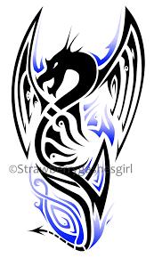 dragon tattoo design blue by strawberrygashesgirl on deviantart