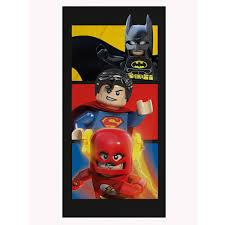 lego dc comics superheroes boom towel beach bath batman