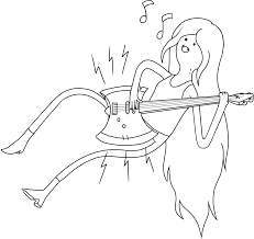 adventure time marceline coloring pages getcoloringpages com