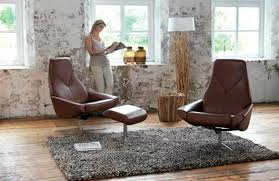 natur design traditional armchair leather with footrest reclining