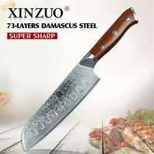 restaurant kitchen knives aliexpress com buy xinzuo 7 inch japanese chef knife damascus