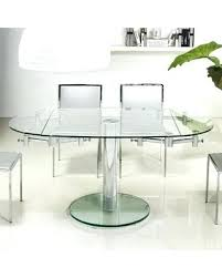 Large Round Glass Vase Dining Table Round Glass Dining Table 2 Chairs Small Ikea And 4