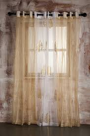 marigold sheer curtain beige self striped door at low s in india in