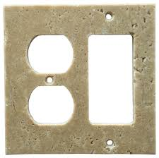 clear light switch cover oracle tile and stone light walnut travertine switch plate cover in