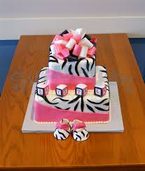 pink and zebra baby shower src baby shower cakes pinterest