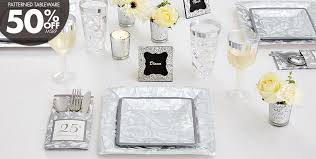 25th anniversary ideas silver 25th wedding anniversary party supplies 25th anniversary