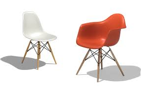 eames dowel eames molded wood side chair with dowel base