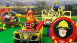 fireman sam 3 fire fighting vehicles helicopter 4x4 quad