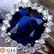 coloured sapphire rings images 3 21 ct unheated natural colour change blue sapphire and diamond jpg