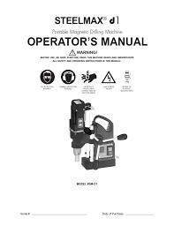 steelmax d1 operation manual