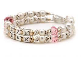 Infant Name Bracelet Personalized Baby And Mothers Jewelry Women U0027s Engraved And
