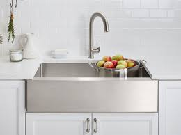 what is an apron front sink kohler canada strive self trimming apron front sinks kitchen