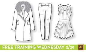 free fashion flat sketching live training wednesday