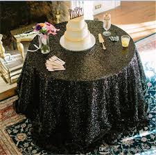 sequin table runner wholesale 108black sequin glamorous table cloth for wedding party tablecloth