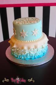 birthday cake blue ruffles 2 tier frozen u2013 pixy cakes