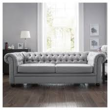 Chesterfield Sofa Beds Chesterfield Fabric Sofa Bed Silver Linen From Our Tesco