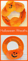 halloween craft for kids cupcake liner wreath