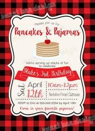 pancake cake for a pancakes and pajamas birthday