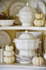 Pumpkin Soup Tureen And Bowls by Fall Hutch White Pumpkins And Soup Tureens Stonegable
