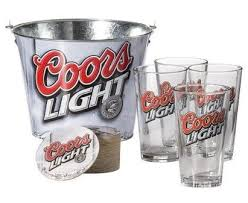 coors light gift ideas amazon com coors light pint glasses and bucket gift set beer