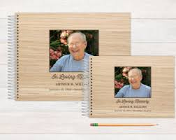 personalized funeral guest book memorial book etsy