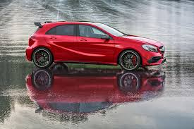 mercedes jeep 2016 red mercedes a45 amg muscles up to 381bhp in 2016 a class facelift by