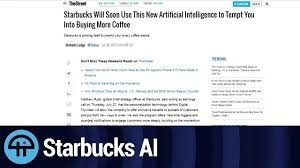 Most Ridiculous Starbucks Order by Starbucks Will Use Ai To Sell You More Coffee Youtube