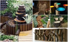 DIY Rustic Log Decorating Ideas For Home And Garden - Outside home decor ideas