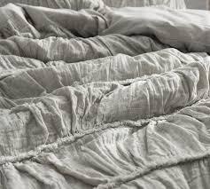 Oversized King Duvet Cover 108 X 98 Bedroom Frayed Edgings King Duvet Cover Oversized Xl Whitegray