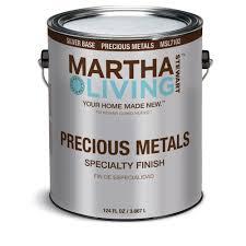 martha stewart living 1 gal silver semi gloss precious metals