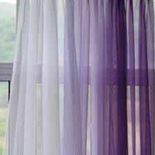 Crushed Sheer Voile Curtains by Filder Lavender Gradient Panel Set Earthy Curtains And Purple