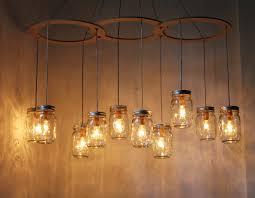mason jar chandelier lighting fixture large rustic mason jar