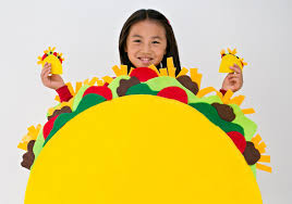 costume for kids diy no sew felt taco costume for kids