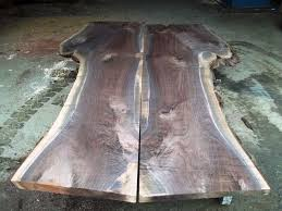 Walnut Live Edge Table by Hand Crafted Live Edge Black Walnut Slabs Ready For A Custom Table