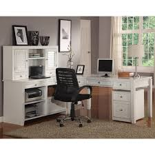 White L Shaped Desk With Hutch White L Shaped Computer Desk With Hutch And Ergonomic Black