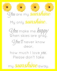 sunshine invitation you are my sunshine printable simple living mama
