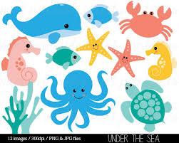 Under The Sea Nursery Decor by Sea Animal Clipart Under The Sea Baby Sea By Mintprintables Ahoy