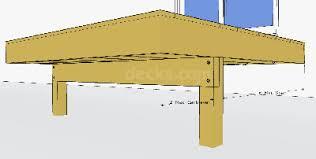 cantilevered deck decks com deck girder cantilever or drop beam