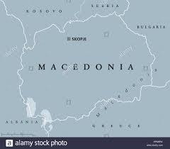 Europe Peninsulas Map Macedonia Political Map With Capital Skopje And Neighbor Countries