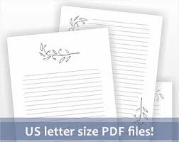 printable letter writing paper us letter size lined