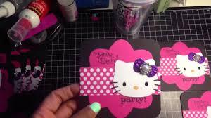 full video of hello kitty birthday invitations for cortlyn youtube