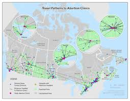 Manitoba Canada Map by Healthy City Maps Spatial Disparities And Travel To Abortion